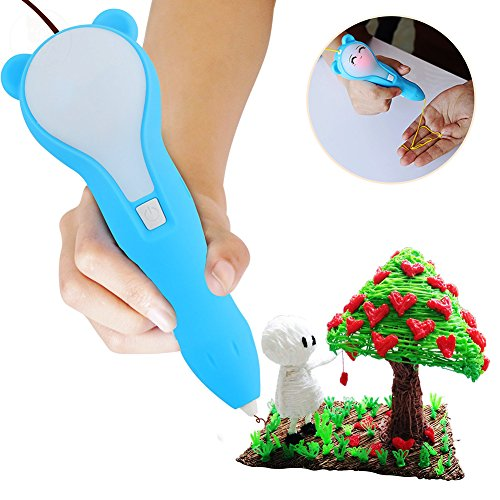 New Expression Three-Dimensional Creative Brush Christmas Children's Toys 3D Printers Low-temperature Charging 3D Printing Pen by ADI7N (Image #1)
