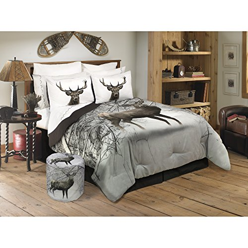 - Safdie & Co. Collection Deer in Snowy Forest 2 Piece Comforter Set, Twin