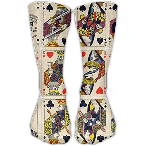 Fashion Special Poker Cards Girls Dress Socks Womens Crew Socks