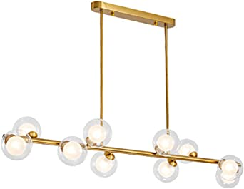 Ontario 8 Light Sputnik Modern Linear Chandelier