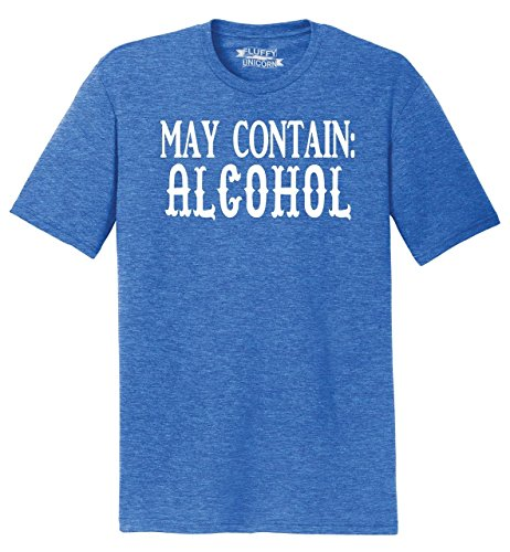 Blend Alcohol - Mens Tri-Blend Tee May Contain Alcohol Tee Royal Frost XL