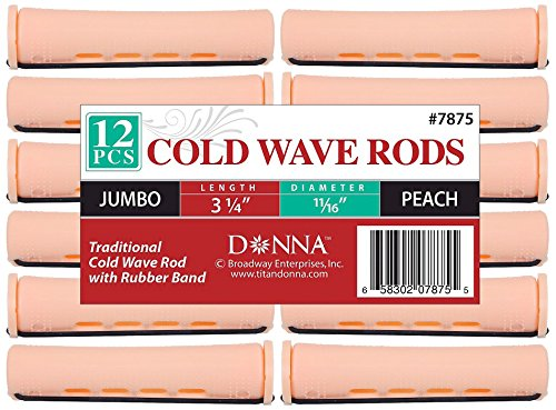 Donna Collection Cold Wave Jumbo Rods, Peach ()