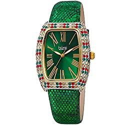 Swarovski Colored Crystal & Diamond Accented Rectangle Watch