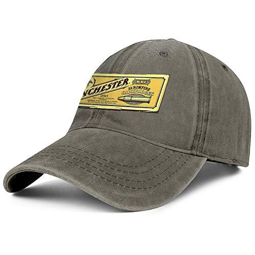 for Men Cowboys Cap Winchester Repeating Arms Logo Adjustable Soft Stretch Denim Caps ()