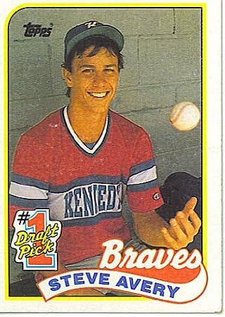 Amazon Com 1989 Topps Steve Avery 784 Mlb Baseball Rookie Card Everything Else