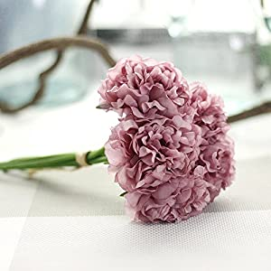 1 Bouquet /5pcs Wedding Artificial Hydrangea Flower Home Party Floral Decoration 4