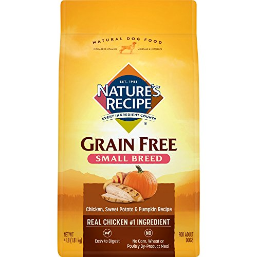 Nature's Recipe Grain Free Small Breed Dry Dog Food, 4-Pound