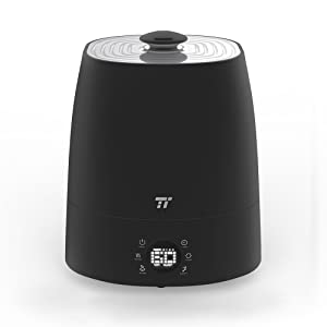 TaoTronics Cool and Warm Mist Humidifier, 5.5 Liter Ultrasonic Humidifiers for Large Bedroom, LED Display, Customized Humidity, External Humidity Sensor, 360 Rotatable Nozzle, US 110V