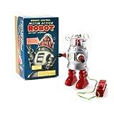 Vintage Style Remote Control Piston Action Robot Tin Toy
