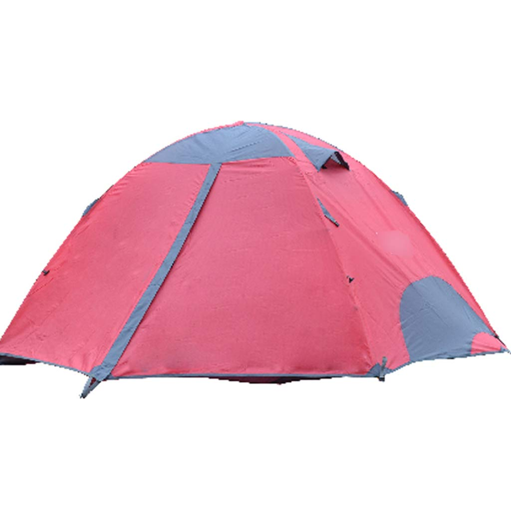 YaNanHome Doppeltes Starkes regendichtes Zelt des Zeltes im Freien 2 Leute Wildes kampierendes Zeltpaarzelt Multi Farben wahlweise freigestellt (Farbe : ROT, Größe : 200  150  115cm)
