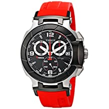 Tissot Men's T-Race Strap Chronograph Watch Black T0484172705701