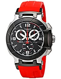 Tissot Men's T-Race Strap Chronograph Watch Black T0484172705701
