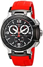 Tissot Men's T0484172705701 T-Race Two-Tone Stainless Steel Watch with Red Rubber Band