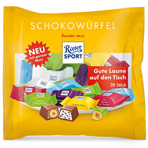 Ritter Sport Chocolate Cube Colorful Mix 28 Pieces (222g)