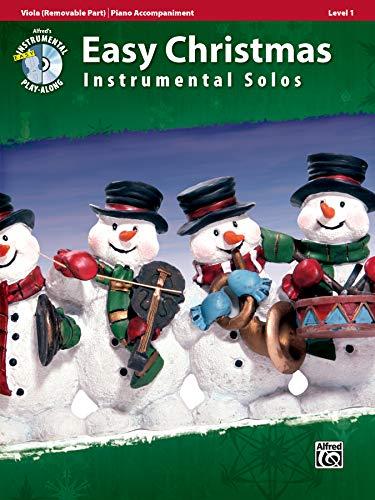 Easy Christmas Instrumental Solos for Strings, Level 1: Viola, Book & CD (Easy Instrumental Solos Series) (Music Viola Easy)