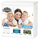 #9: Twin Thetis Bedding Waterproof Mattress Protector - Bed Bug Proof Hypoallergenic Noiseless Mattress Covers - Fitted 18