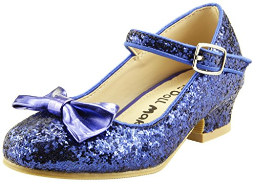 The Doll Maker Bow Top Glitter Strap -