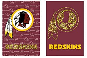 Suede Washington Redskins Glitter Embellished Logo 2 Sided House Flag