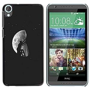 Be Good Phone Accessory // Dura Cáscara cubierta Protectora Caso Carcasa Funda de Protección para HTC Desire 820 // Moon Modern Art Deep Meaning Artistic