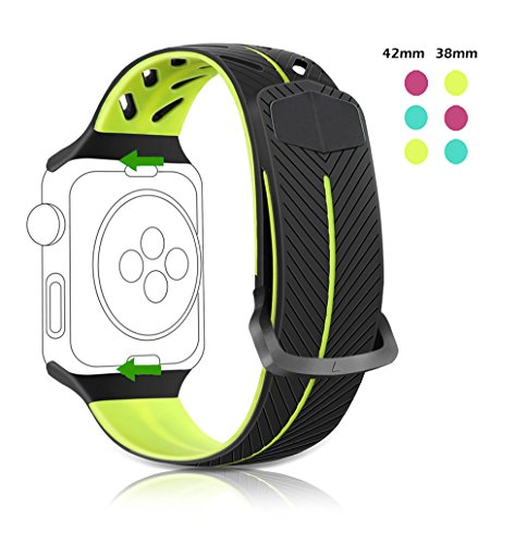 Rodash Cool Replacement Band for iWatch Apple Watch Band Silicone Watch Strap Wristband Smart Watch Bands 38mm for Apple Watch Series 1/2/3/Nike+ Mint