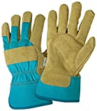 DIRTY WORK DW23000 Split Cowhide Leather Landscaping Work Gloves: Women's Medium/Large, 1 Pair