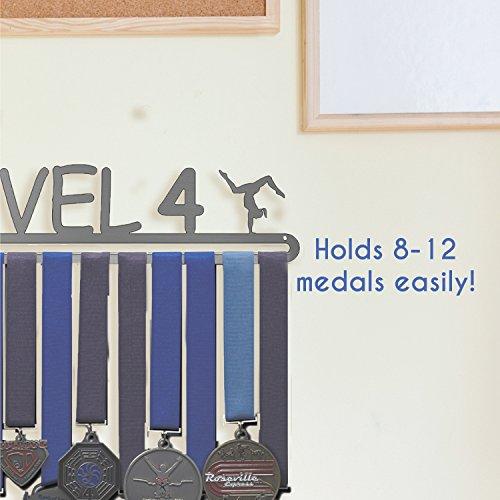Gymnast Design Lizatards Gymnastics Medal Holder /& Display Hanger Rack