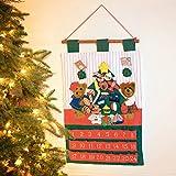 Kubla Crafts Teddy Bear Christmas Fabric Advent