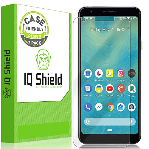 IQ Shield Screen Protector Compatible with Google Pixel 3a 5.6 inch (2-Pack)(Case Friendly) LiquidSkin Anti-Bubble Clear Film (Clear Screen Protector Shield)