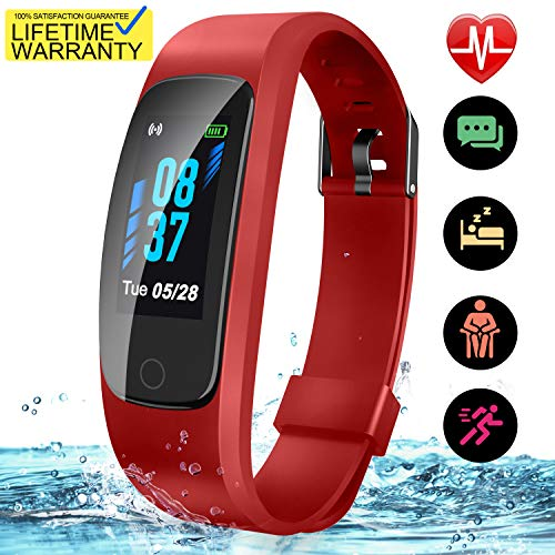 Updated 2019 Version High-End Fitness Tracker HR, High-End Activity Trackers Health Exercise Watch with Heart Rate Sleep Monitor, Smart Band Calorie Step Counter, Pedometer Walking for Men Women Kids