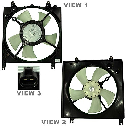 APDTY 731474 Radiator Cooling Fan Assembly Fits 2004-2007 Mitsubishi Galant w/ 3.8L Engine (Includes Fan Motor, Blade, Shroud; Replaces MN153179, MR281573, (Mitsubishi Galant Radiator Cooling Fan)