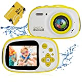 Kids Waterproof Camera,Delicacy 8MP 2.0 Inch HD Screen Camera Camcorder with 6X Digital