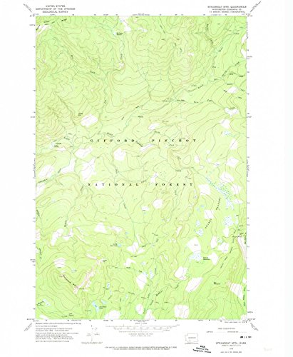 YellowMaps Steamboat Mtn WA topo map, 1:24000 scale, 7.5 X 7.5 Minute, Historical, 1970, updated 1974, 26.9 x 22.1 IN - (Fish Fork Grande)