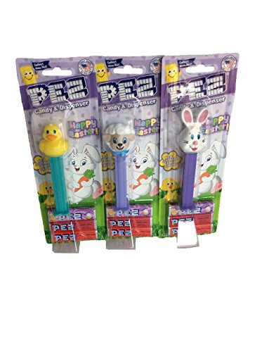 3 Pez Candy & Dispensers, Bunny, Lamb and Duckie