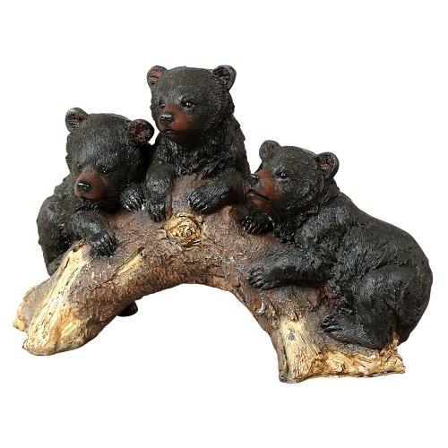 Bears on Log Rustic Sculpture - Wilderness Decor