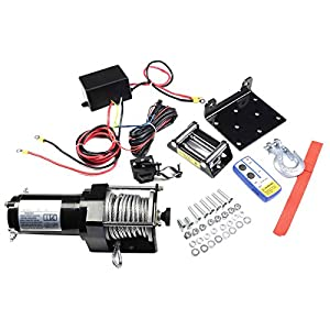 Safstar 3000lbs DC 12V Electric Recovery Winch Truck SUV Car Wireless Remote Control Kit