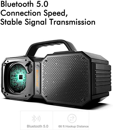 BUGANI Bluetooth Speaker, M83Portable Bluetooth Speakers,Bluetooth 5.0,Waterproof, Wireless Speakers,40W Super Power… 2