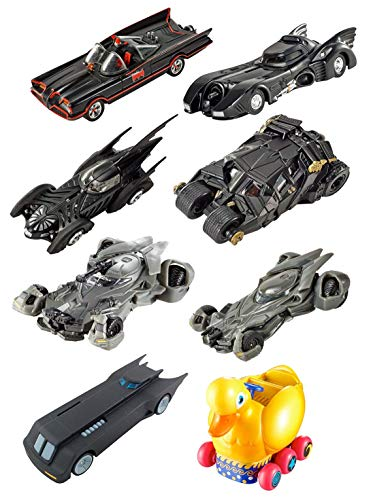 Hot Wheels Batman Batmobile Collection (8 Pack) Highly Detailed 1:50 Scale