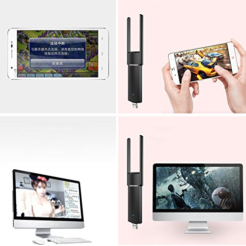 Ocamo CF-926AC V2 1200M USB Wi-Fi Range Extender 300Mbps Wireless WiFi Repeater Signal Booster Amplifier by Ocamo (Image #7)