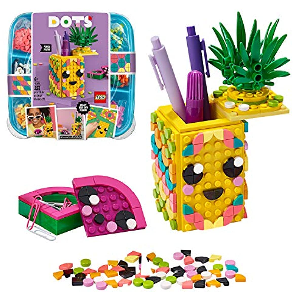 [해외] 레고(LEGO) 드즈 DOTS 파인애플 펜 스탠드 41906