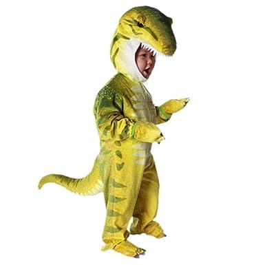 Prettycos Disfraces de Dinosaurio para Ninos Cosplay Pijama Dinosaurio para Fiesta Halloween