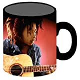 Silver Buffalo BM0734 Bob Marley and Guitar, Jumbo Ceramic Mug, 20 Ounces, Multicolored