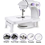 Sewing Machine with Extension Table + Light Mini Sewing Machine Double Speed Double Thread Best Gift for Friends Kids