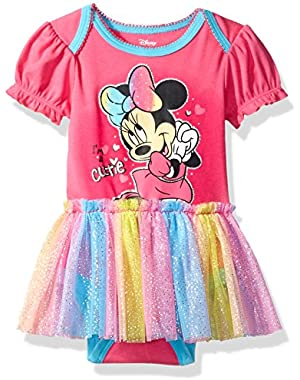 Baby Girls' Minnie Mouse Tulle Bodysuit Set