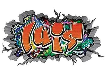 3d Wandtattoo Graffiti Wand Aufkleber Name Luis Wanddurchbruch