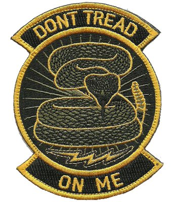 Rocker Patch - Dont Tread On Me - Black & Yellow