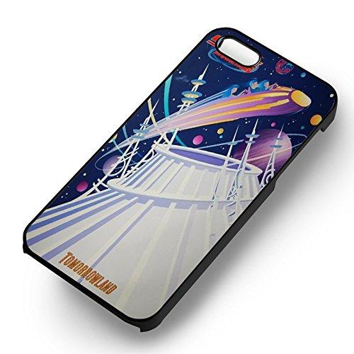 Space Mountain Disney Tomorrowland pour Coque Iphone 6 et Coque Iphone 6s Case (Noir Boîtier en plastique dur) Z9P7RQ