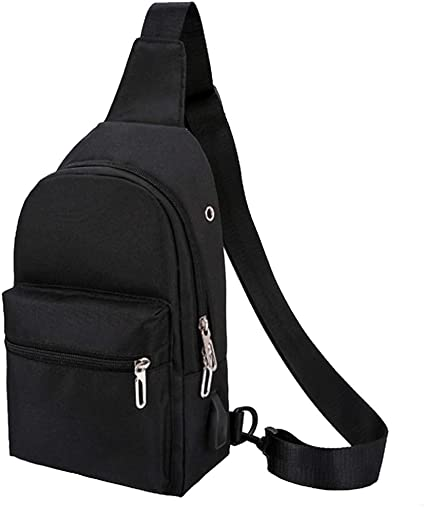 Men/'s Tactical Sling Chest Shoulder Travel Canvas Backpack Sport Bag Day Packs