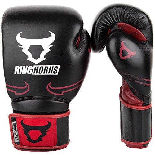 Ringhorns Unisex's Destroyer Boxing Gloves, Black/Red, 10 oz