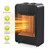Space Heater, Portable Electric Ceramic Space Heater Fan with Overheat Protection & Tip-Over Protection, Small Heater for Desk Office Home Bedroom, 750W/1500W
