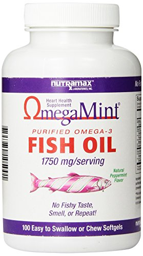 Best omega mint fish oil capsules 1750mg serving human for Fish oil pills for buttocks review
